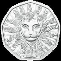 Реверс монеты «ЛЕВ-18 Австрия»